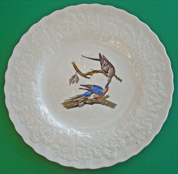 Passenger Pigeon Hard to Find DINNER Plate with the Reproduction from Audubon's Elephant Folio Edition of Birds of America Plate #62
