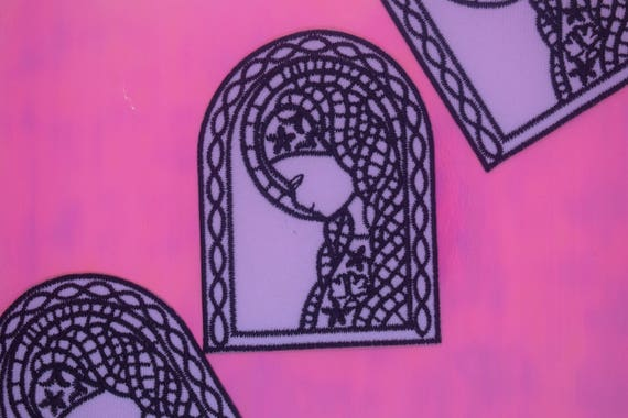 Stained Glass Window Iron on Patch