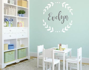 Attractive Laurel Leaf Name Decal LARGE Wall Decal | Laurel Leaf Decal | Kids U0026 Teen  Wall