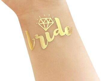 Bridal party tattoos , bride tattoo bride tribe tattoo, gold tattoos