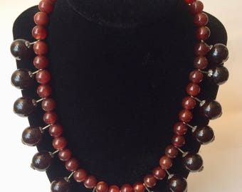 Carnelian and Onyx Regal Necklace