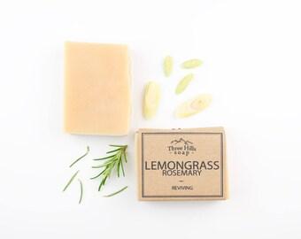 Lemongrass Soap, Rosemary Soap, Soap, Natural Soap, Scented Soap, Handmade Soap, Vegan Soap, Palm Free Soap, Fragranced Soap, All Skin Types