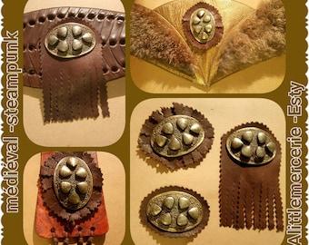3 prints medieval jewelry & leather customization