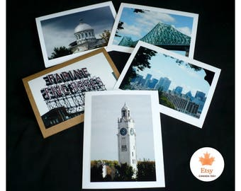 Montreal Landmarks All Occasion Blank Photo Greeting Cards Set of 5 Canada Fine Art Photography