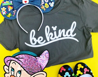 Be kind, ladies tshirt, disney girl, mickey