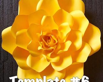 Template #6 Paper Flower DIY