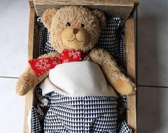 doll linen, barbie linen, doll bed clothes, barbie bed clothes, fashion doll bedding, zero waste, bedding, linen, mini bedding, doll house