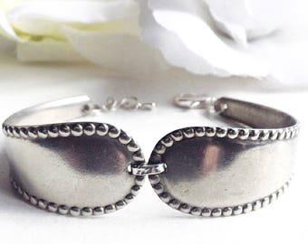 Rare Spoon Bracelet, Spoon Jewelry,  Antique Spoon Bracelet, Silverware Bracelet, Antique  Silver Spoon Jewelery, Silver Bracelet