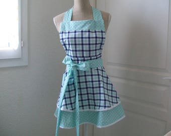 "Retro apron ""Blue and green"""