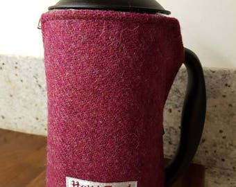 Harris tweed Cafetiere Cosy, Cafetiere cover, French press cosy, free postage