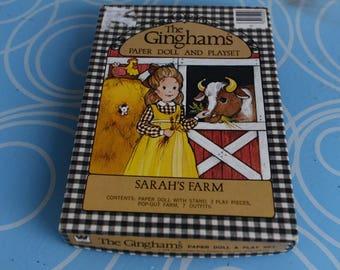 Vintage The Ginghams Paper Doll - 1976 - Sarah's Farm