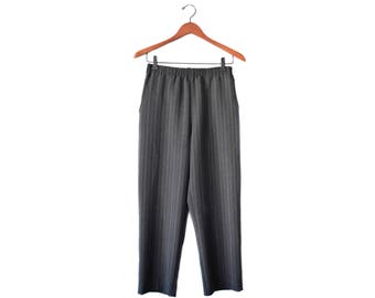Vintage pinstriped cropped trousers   XS-M