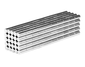 1/16 x 1/8 Inch Neodymium Rare Earth Cylinder Magnets N48 (250 Pack)
