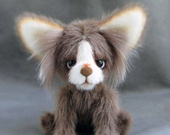 Toy Puppy animals handmade artist bear OOAK