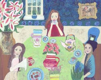 Art Print: Tea Party (A5, A4, A3)