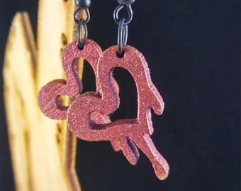 Melt with you laser cut earring dark pink finish hand painted