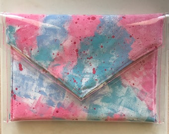 Contempory Hand Painted Clutch