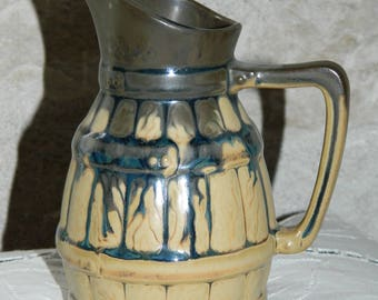 old pitcher ceramic N1. little pitcher french vintage.