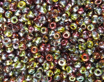 6/0 Japanese/Czech Unions 6/0 Japanese Seed Beads - Fusions Crystal Magic Apple 06-131-95600 - 20 grams