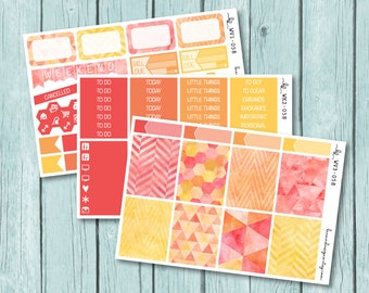 Fiery Geometric Vertical Weekly Kit, Planner Stickers for use with ERIN CONDREN LIFEPLANNER™