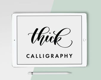 iPad Lettering Procreate Brush - Thick Calligraphy Brush