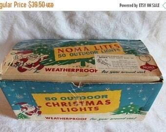 Summer Sun Sale Vintage Noma Christmas Lights - 50 Outdoor C9 Multi Color Lights in the Original Box!!