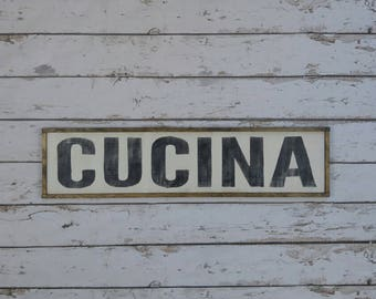 Italian Kitchen Sign, Cucina Sign, Italian Decor, Italian Wood Sign, Mangia Sign, Famiglia Sign, Custom Wood Sign, Italian Sign