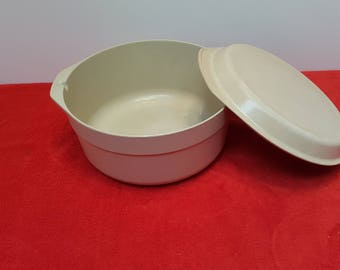Vintage anchor hocking large casserole, Dutch oven, anchor hocking microwave ovenware, PM480-Tl
