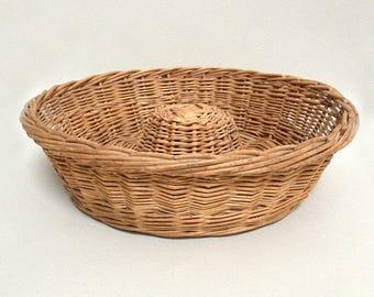 Large Willow Bread Basket - French Baker Basket - Large Round Basket