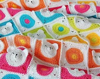 Teddy Bear Crochet Baby Blanket Pattern /Teddy bear blanket/Baby Blanket Pattern /Blanket Pattern /Crochet PDF pattern /Baby Blanket/Crochet