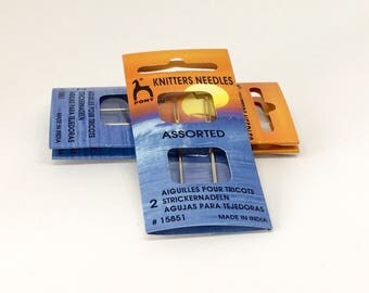 Knitters Sewing Needles 2 assorted sizes