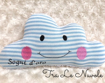 Cushion in the shape of a cloud to decorate the bedroom and children's cot