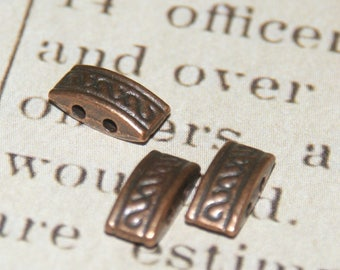 4 spacers 2 rows 10x4mm coppered metal