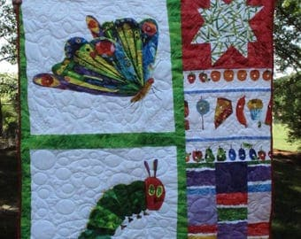 Very Hungry Caterpillar Baby Quilt