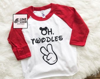 ENDS AT 12AM oh twodles, two year old shirt, i'm two lets party, 2nd birthday, raglan, two year old birthday shirt, boys birthday shirt, boy