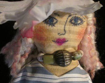 Lovely Lucia. Primitive and Folk Art Doll. OOAK