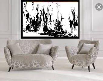 black and white fluid abstract original abstract fluid art acrylic abstract wall art fluid fine art canvas modern acrylic giclee print art
