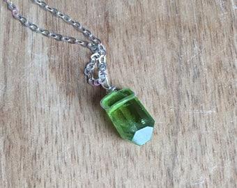 Peridot Necklace - Peridot Jewelry -Genuine Peridot  - August Birthstone Jewelry - Peridot - Peridot Pendant - Green Gemstone