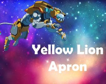 Yellow Lion Apron/Hunk/Paladin Apron/Voltron Apron/Cosplay Apron/Legendary Defenders Apron/Voltron/Legendary Defender/Yellow Lion/Cute Apron