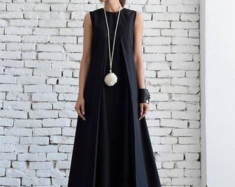 SALE Black Maxi Dress/Loose Long Dress/Plus Size Kaftan/Long Black Dress/Sleeveless Black Dress/Maxi Black Dress/Oversize Black Kaftan/Maxi
