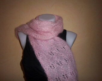 Mohair wool 1 m 20 (Pink).