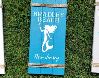 Nautical Sign, Rope Sign, Rustic Sign, Beach Sign, NJ Beach town Sign