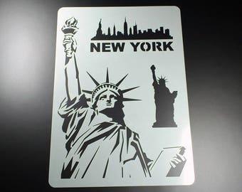 Stencil New York Statue of Liberty Miss Liberty-BA01