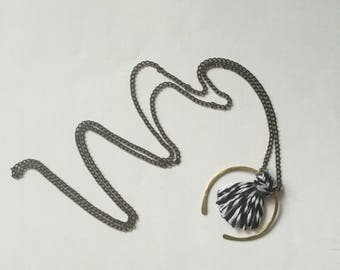Black & White Yarn Necklace