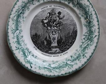 Creil Et Montereau Decorative French Plate