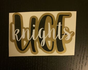 Custom Vinyl Decal   UCF Knights Decal   University of Central Florida Knights