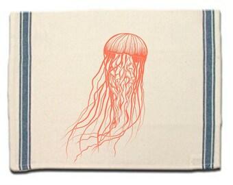 Jellyfish Kitchen Towel Dish Towel  Tea Towel  Flour Sack Material Sea Life Dish Towel Flour Sack Kitchen Towel Dish Cloth