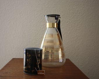 Mid-Century Atomic Pyrex Glass Coffee Carafe
