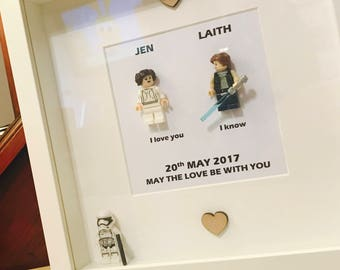 Star Wars Wedding Gift Frame With Stormtrooper