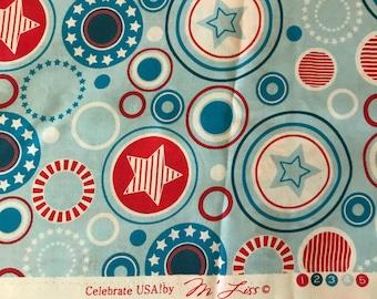 Patriotic Fabric Remnants
